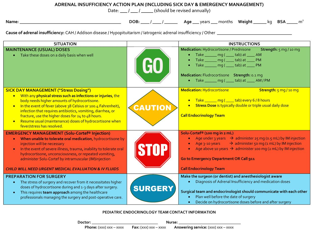 emergency management of adrenal insufficiency in children  advocating for treatment options in