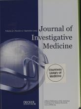 Journal of Investigative Medicine: 51 (5)