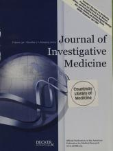 Journal of Investigative Medicine: 52 (1)