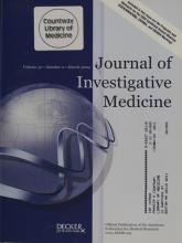 Journal of Investigative Medicine: 52 (2)