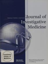 Journal of Investigative Medicine: 52 (3)