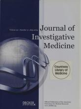 Journal of Investigative Medicine: 52 (5)