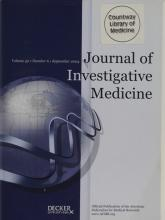 Journal of Investigative Medicine: 52 (6)