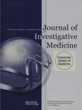 Journal of Investigative Medicine: 52 (7)