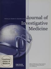 Journal of Investigative Medicine: 52 (8)