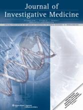 Journal of Investigative Medicine: 56 (7)
