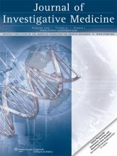 Journal of Investigative Medicine: 57 (2)