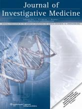 Journal of Investigative Medicine: 59 (1)
