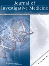 Journal of Investigative Medicine: 60 (6)