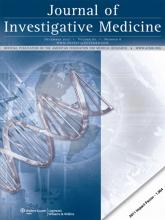 Journal of Investigative Medicine: 60 (8)