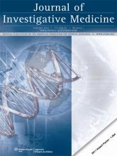 Journal of Investigative Medicine: 61 (1)