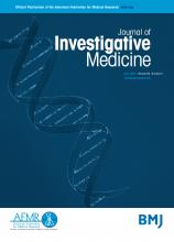 Journal of Investigative Medicine: 64 (5)