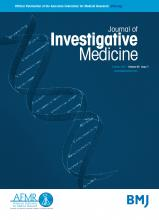 Journal of Investigative Medicine: 65 (7)
