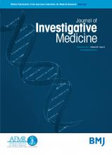 Journal of Investigative Medicine: 65 (8)