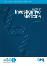 Journal of Investigative Medicine: 66 (7)