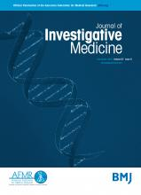 Journal of Investigative Medicine: 67 (8)