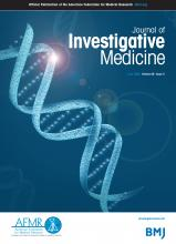 Journal of Investigative Medicine: 68 (5)
