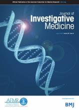 Journal of Investigative Medicine: 68 (6)