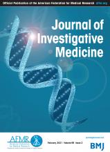 Journal of Investigative Medicine: 69 (2)